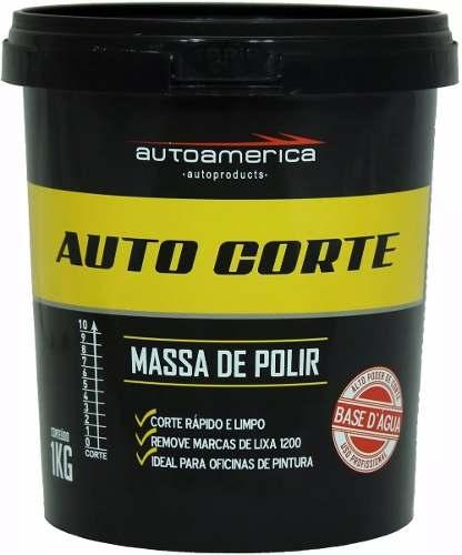 Kit c/ 12 Auto Corte Massa De Polir Autoamerica 1kg
