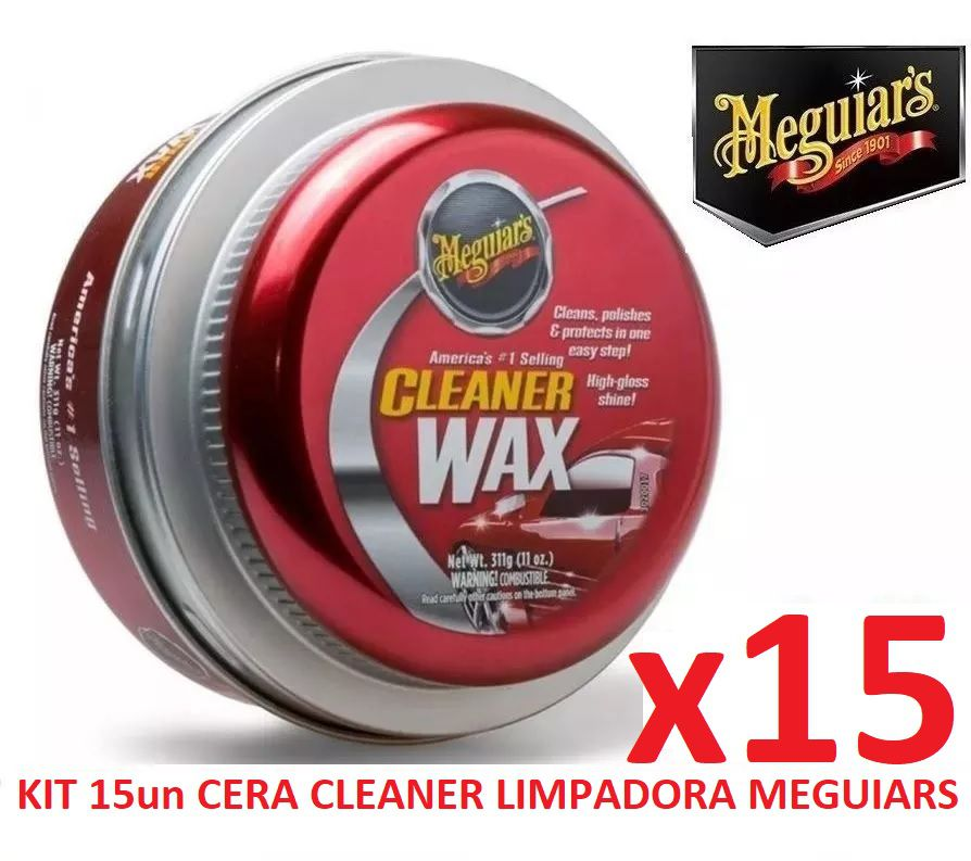 Kit C/ 15 Cera Meguiars Cleaner Wax Pasta Limpadora A1214