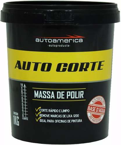 Kit c/ 24 Auto Corte Massa De Polir Autoamerica 1kg