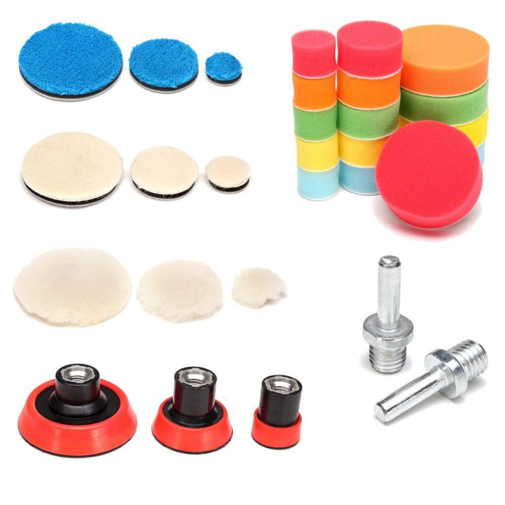 """Kit c/ 29 peças Boinas adaptadores suportes 1"""" 2"""" 3"""" Rosca M14"""