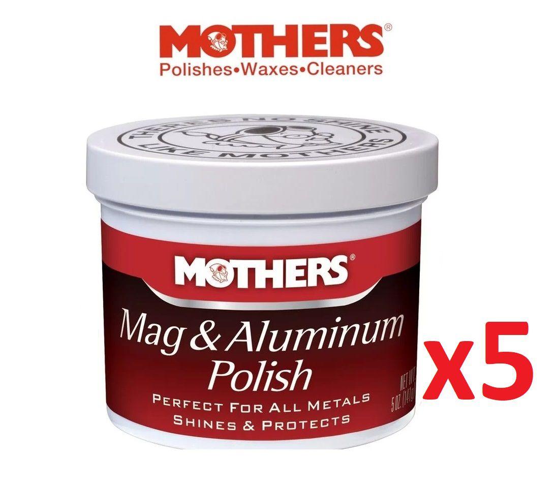 Kit c/ 5 Polidor De Metais Aluminios Mothers Mag Aluminum Polish 141g