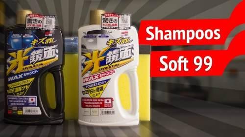 Kit c/ Cera Carnaúba Carros Brancos 350g Soft99 White Wax Cleaner + 01 Shampoo White Gloss Preenchedor Micro Riscos Soft99 Branco