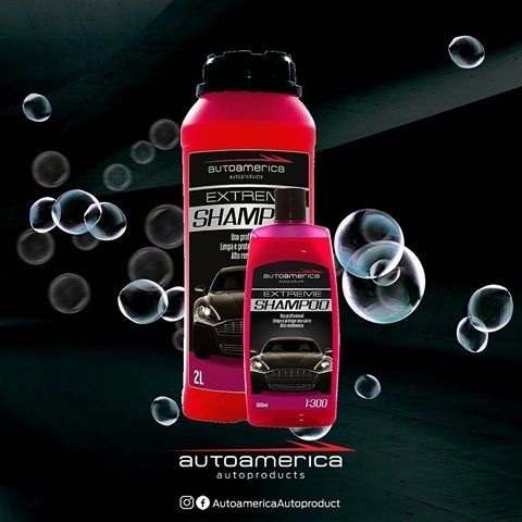 Kit c/ Shampoo Extreme Hiper Concentrado 2l 1:300 Autoamerica + Cera De Carnaúba Triple Paste Wax Autoamerica 300g Cristaliz + Flanela Toalha Microfibra 40 X 60 Cm Autoamerica (sem embalagem