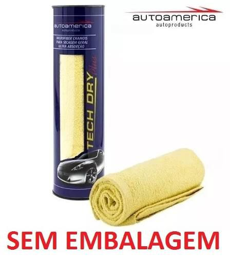 Kit Cera Carnaúba Triple Paste Wax Autoamerica 300g + Flanela Secagem Autoamerica Tech Dry Plus (70x40cm) Sem Emb.