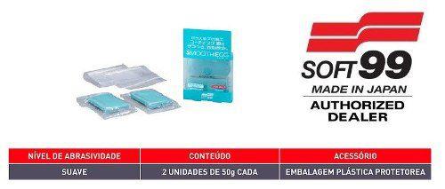 Kit Cera De Carnaúba Premium 300g Soft99 Dark & Black Paste Wax + Smooth Egg Clay Bar Soft99 Com 2 Unidades Soft99 Descontamin