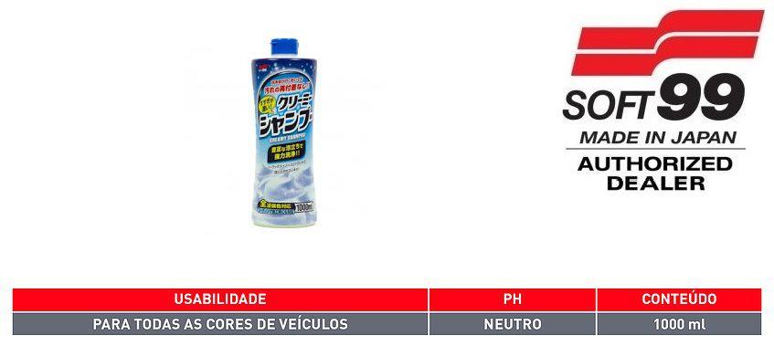 Kit Cera Fusso Coat Black Soft99 + Shampoo Creamy + Pele Rap