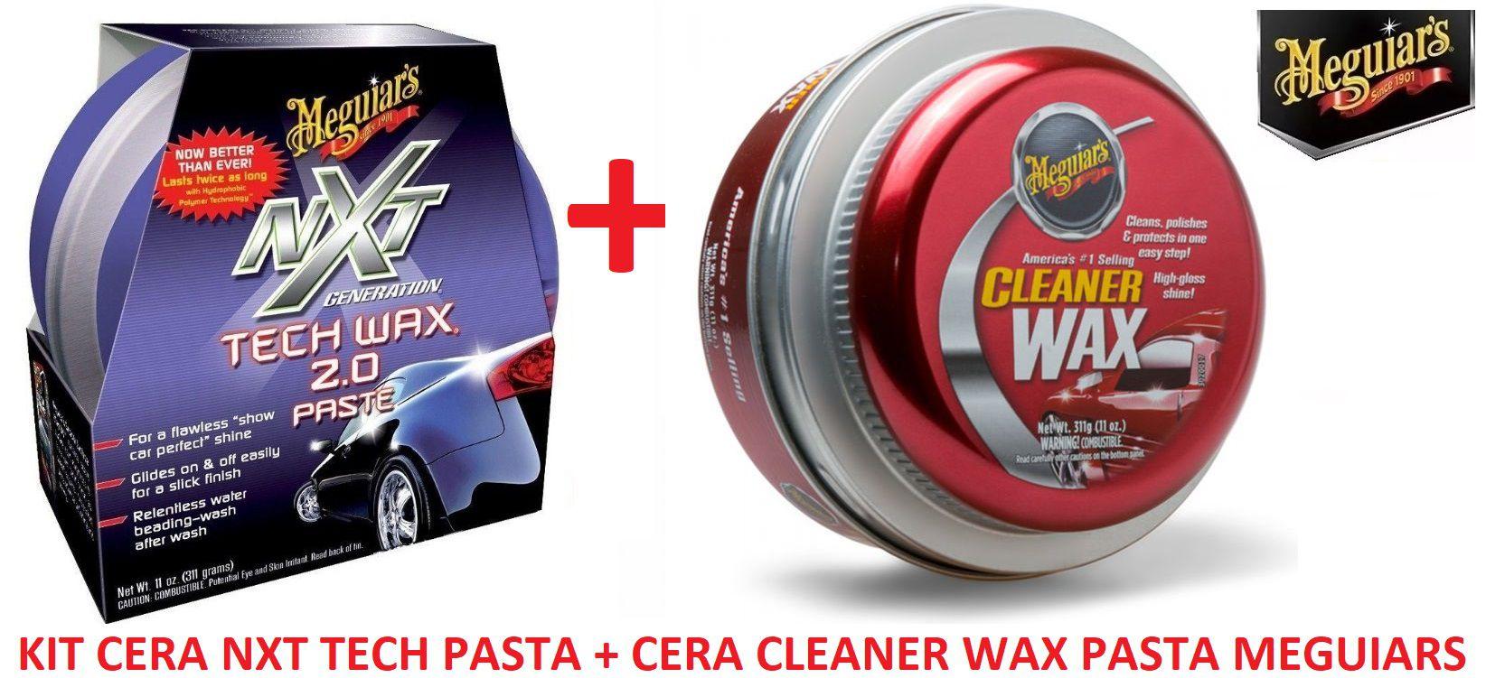 Kit Cera Nxt Tech Wax 2.0 Meguiars Pasta Roxa G12711 + 01 Cera Meguiars Cleaner Wax Pasta Limpadora A1214 (ref:A1214)