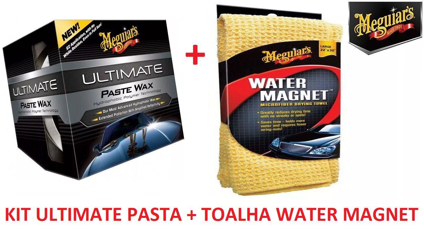 Kit Cera Ultimate pasta G18211 + Toalha secagem Water Magnet X2000 Meguiars