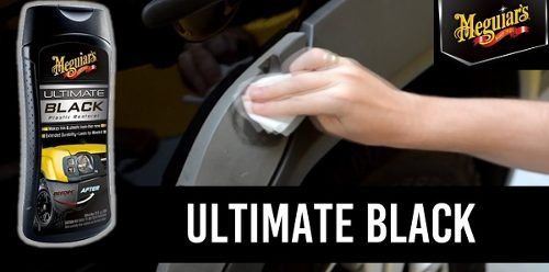 Kit Cera Ultimate Wax G18211 + Restaura Plasticos Ultimate Black
