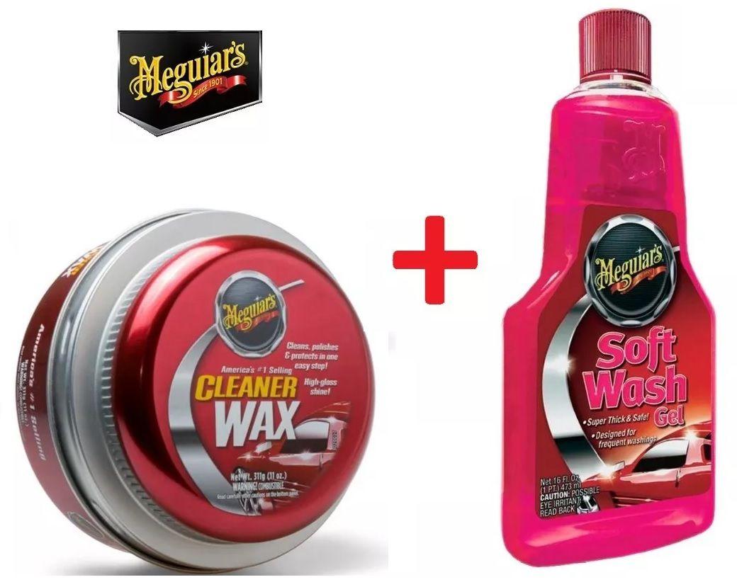 Kit Meguiars 1 Cera Cleaner A1214 + 1 Shampoo Soft Wash Gel A2516