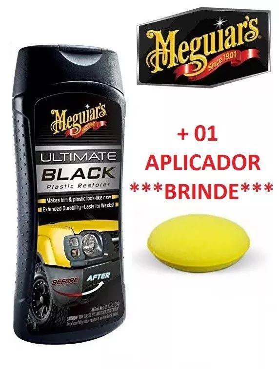 Kit Meguiars 1 Limpa Carp e Estof + Ultimate Quik Wax + Rest Ultimate Black