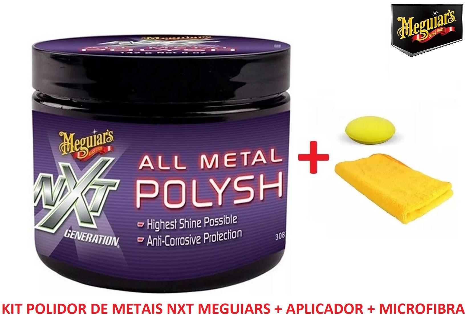 Kit polidor metais NXT + aplicador + microfibra 40x60