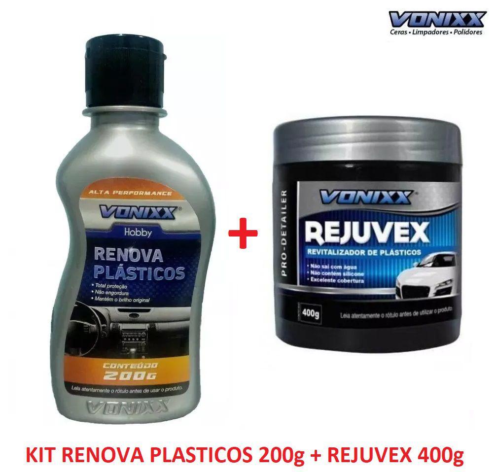 Kit Rejuvex 400g + Renova Plásticos 200g Vonixx