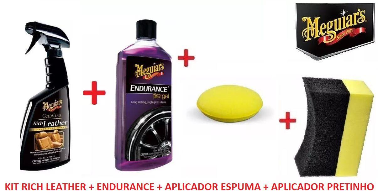 Kit Rich Leather G10916 + Endurance G7516 + Aplicador espuma e pretinho
