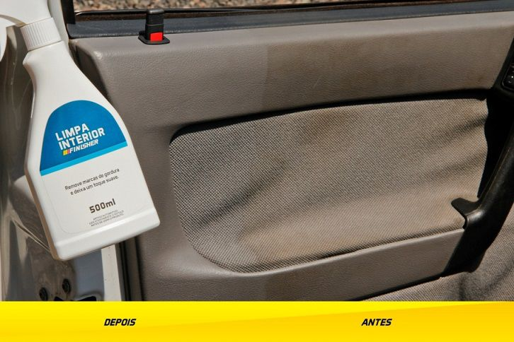Limpa Interior Painel Porta Veiculo Carro APC Finisher 500ml