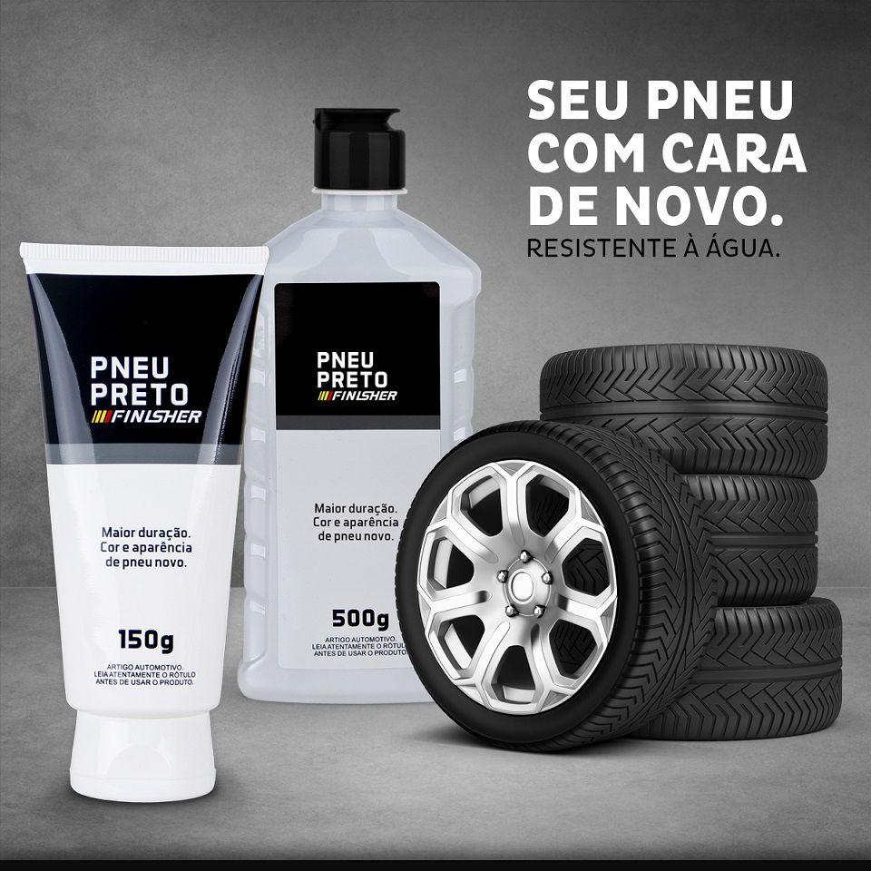 Limpa Pneu Preto Pretinho Resistente Finisher 150g