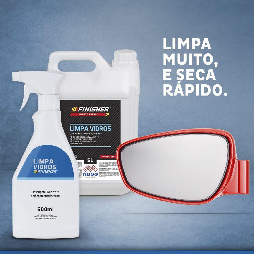 Limpa Vidros E Espelhos Spray Limpador 500ml Finisher