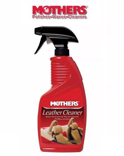 Kit 1 Limpador Hidratante Couro Spray Rich 450ml Meguiars G10916 + 1 Leather Cleaner Limpador De Couro Mothers 355ml