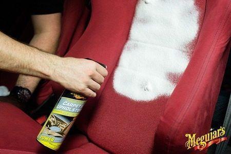 Limpador Limpa Carpete E Estofados 539g G9719 Meguiars + Limpador De Vidros Glass Cleaner 710ml Meguiars G8224