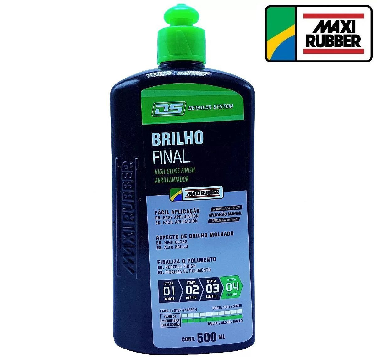 Liquido Finalizador Brilho Final Detailer 500ml Maxi Rubber