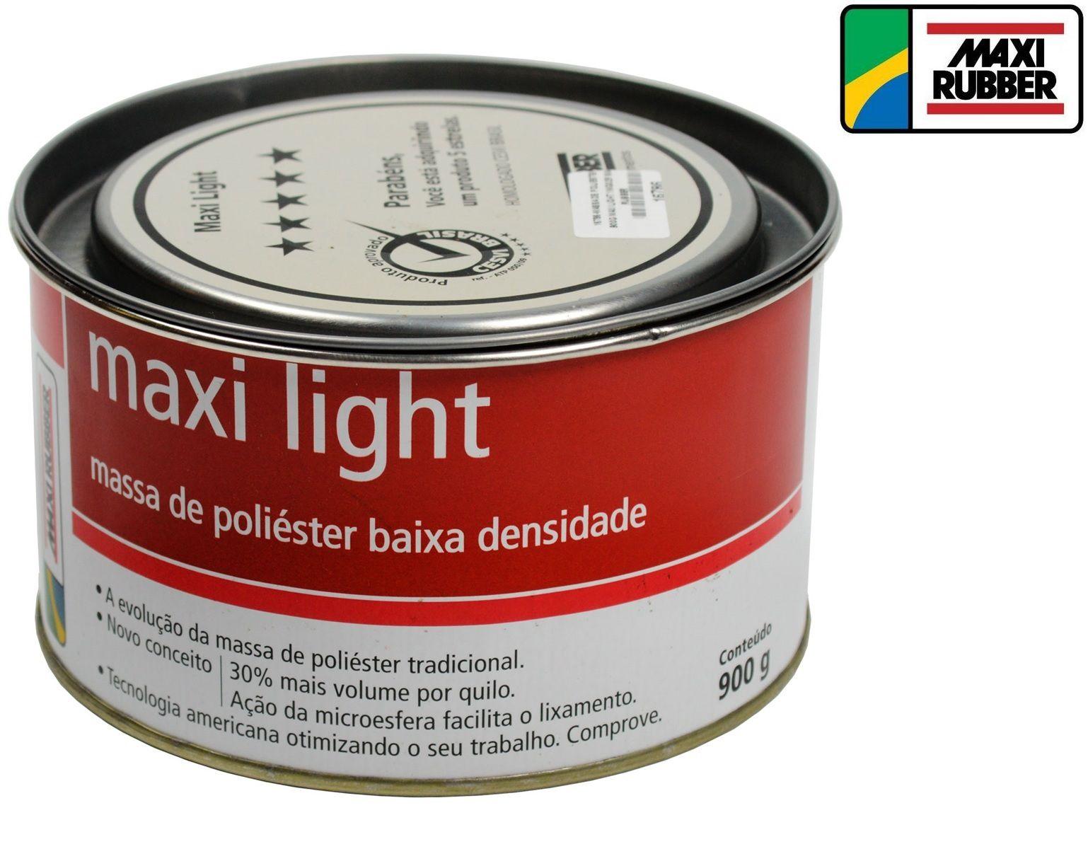 Massa De Poliester Light 900 Grs Maxi Rubber 1mg025