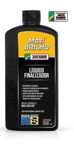 Maxi Lustro Líquido Lustrador + Maxi Brilho Finalizador Rubb