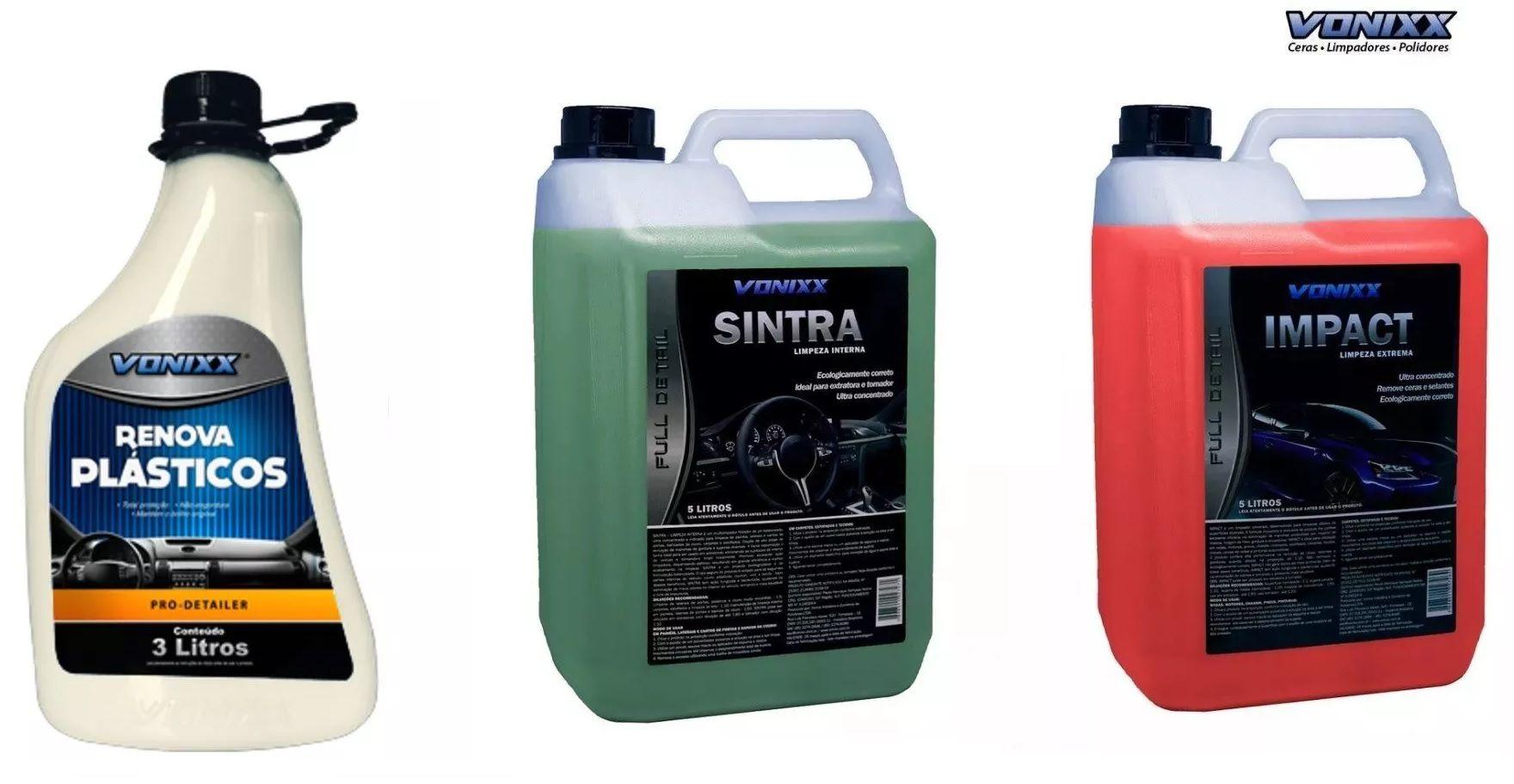 Multi Uso Apc Impact + Sintra Limpeza + Renova Plastico Vonixx