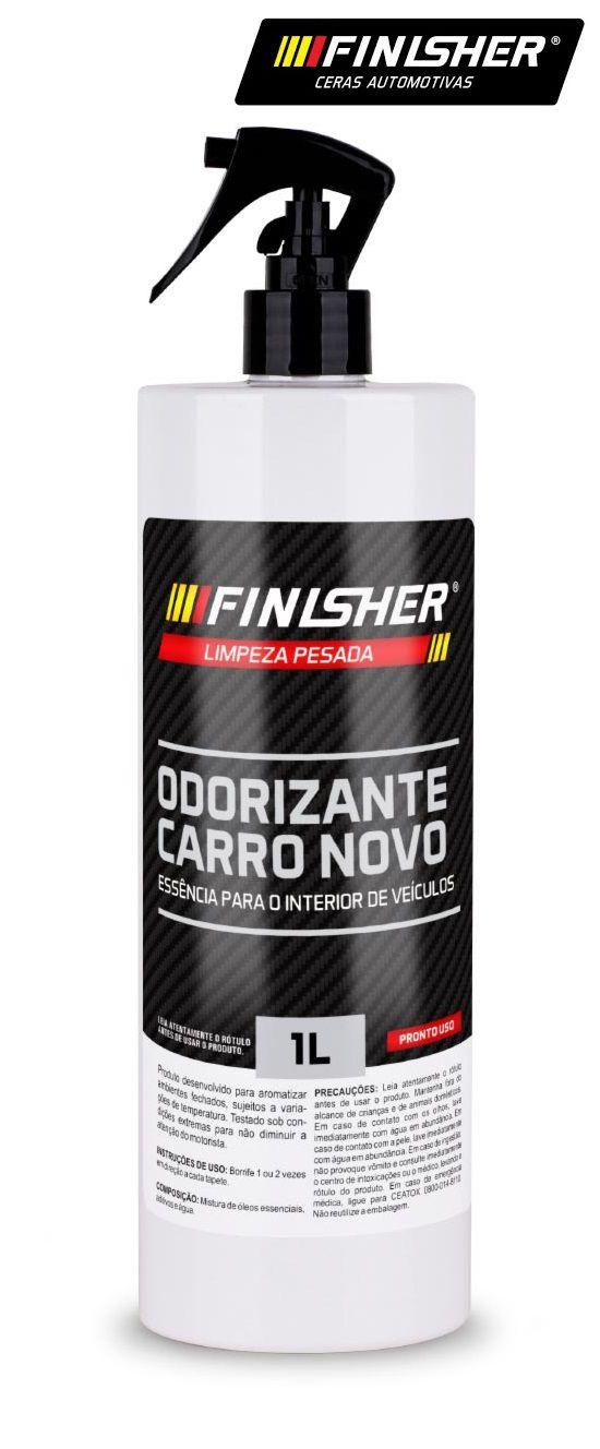Odorizante Aromatizante Cheirinho Carro Novo 1L Finisher spr