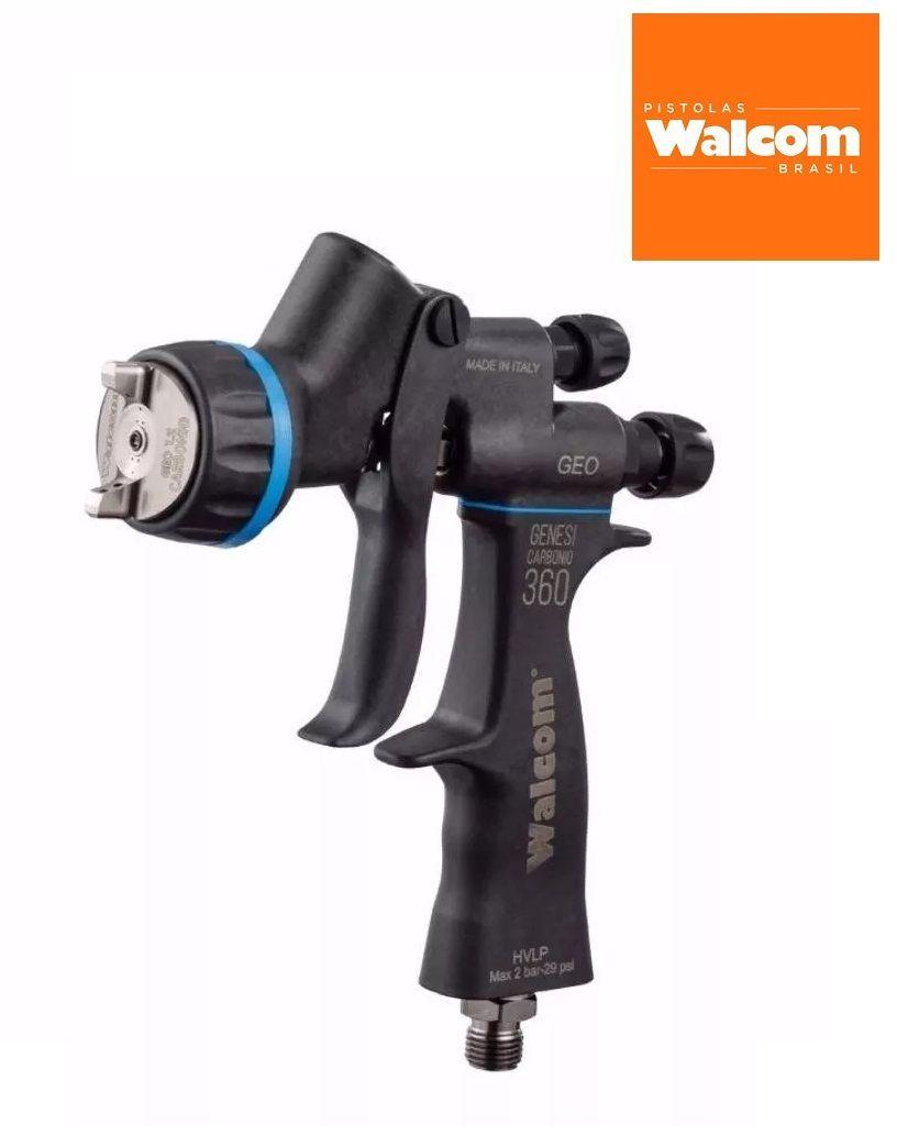Pistola Pintura Walcom Genesi Carbonio Geo 360 Bico 1.3 digital