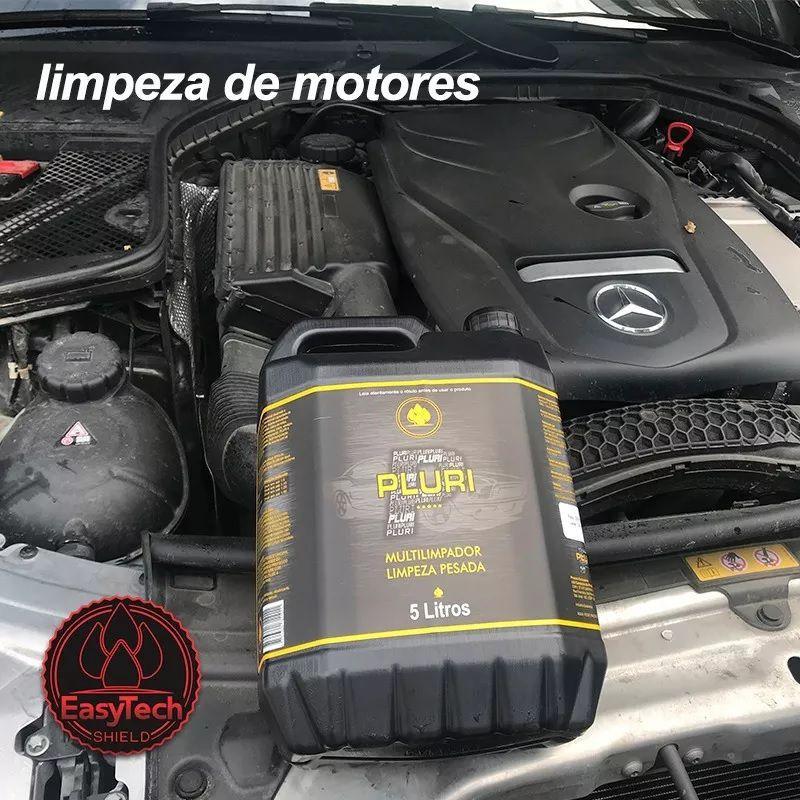 Pluri Multi limpador Limpeza Pesada Rodas E Motor 1,2L Easytech + Shampoo Automotivo Concentrado 1:200 Pink 5L Easytech
