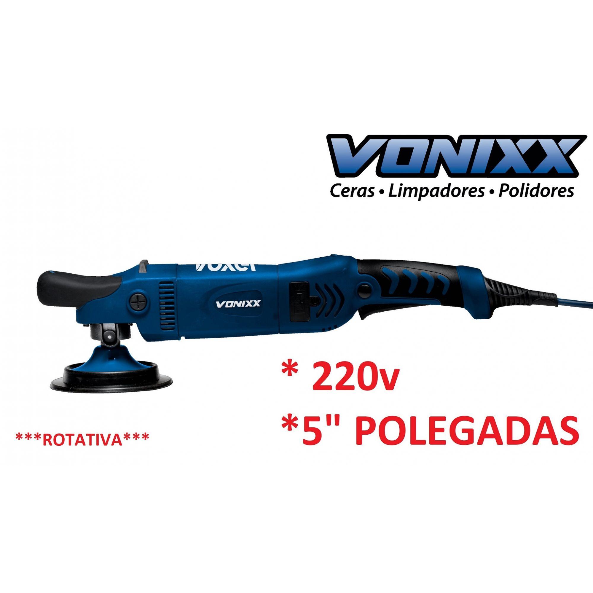 """Politriz Rotativa Dupla Redução 125mm 5"""" 220v Voxer Vonixx"""
