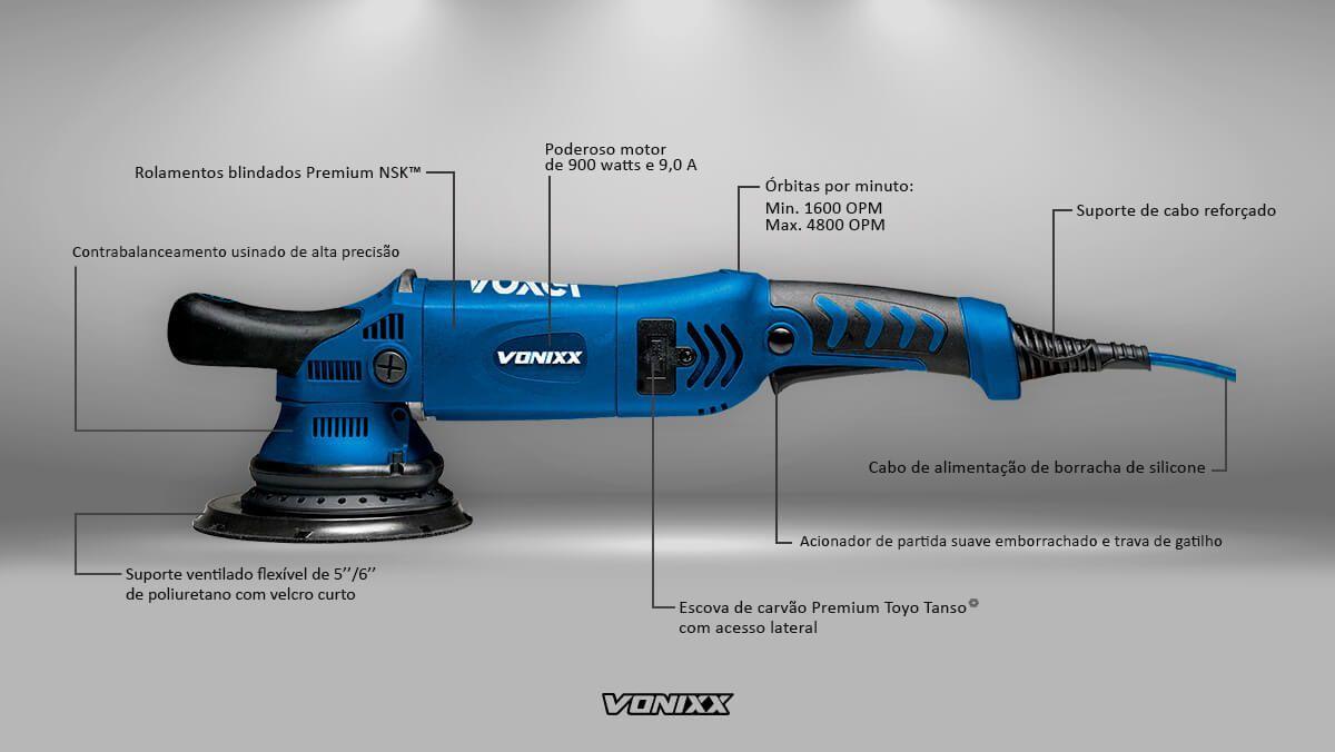 "Politriz Roto Orbital 21mm 6"" 110v Voxer Vonixx"