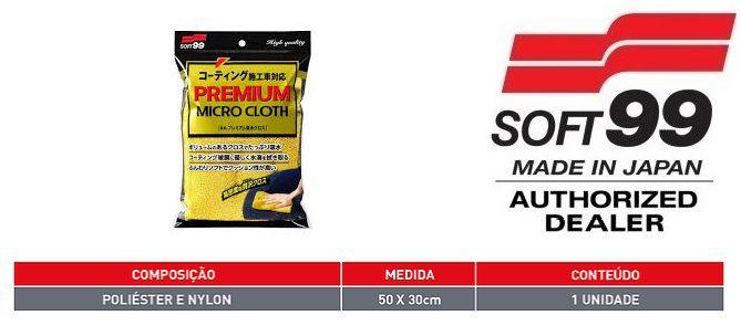 PREMIUM MICRO CLOTH SUPER MICROFIBRA SECAGEM LUSTRO SOFT99