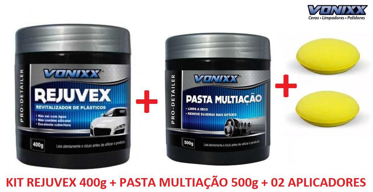 Rejuvex 400G + Pasta multiação 500G Vonixx + 02 Aplicadores espuma
