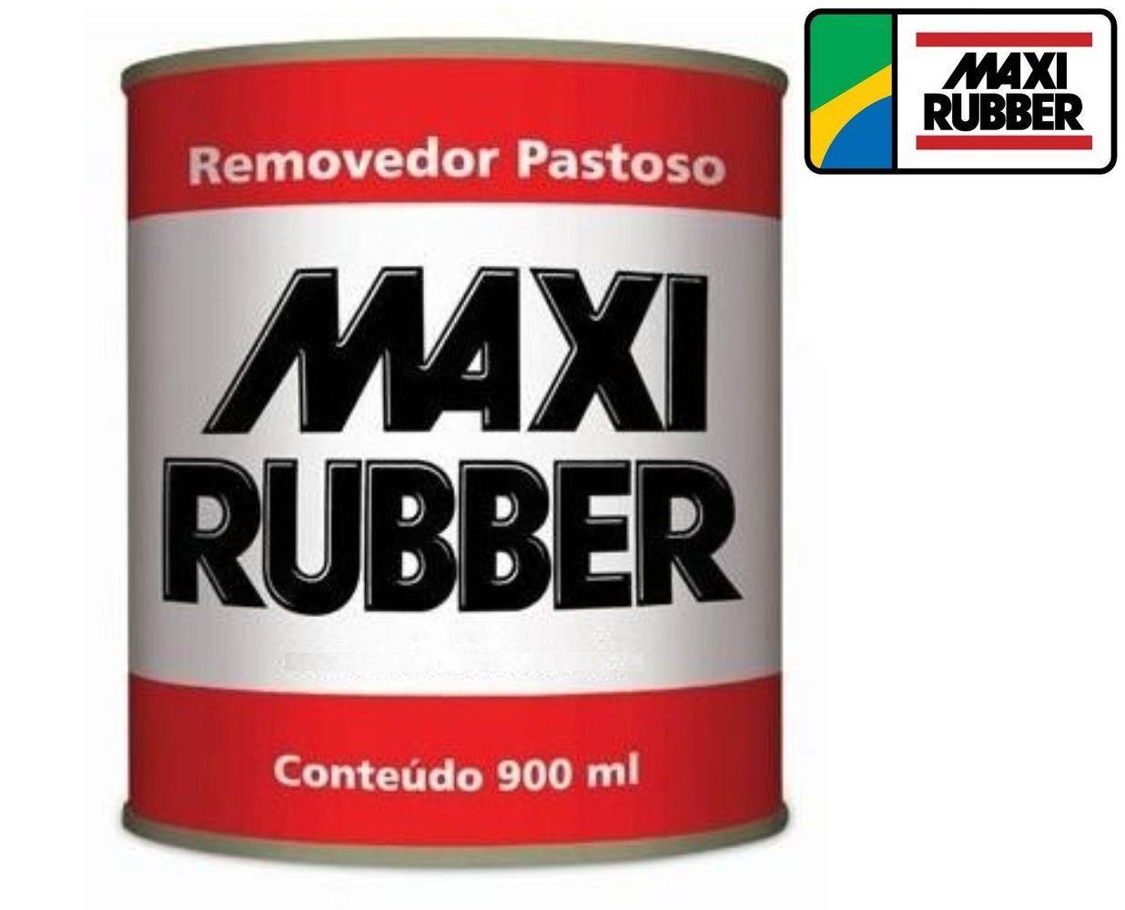 Removedor De Tinta Pastoso Maxi Rubber 1kg 900ml