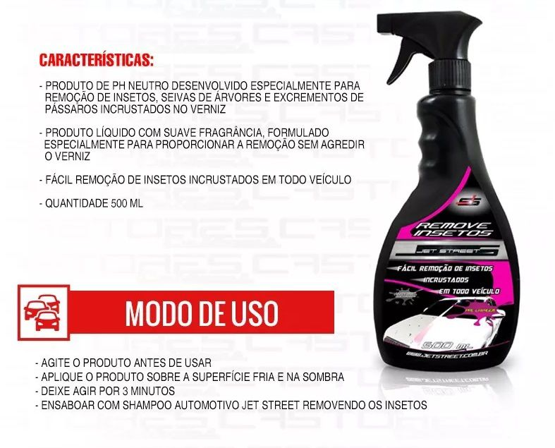 Removedor / Remove Insetos Bichos 500ml Spray Jet Street