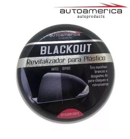 Revitalizador Para Plástico Automotivos Blackout Autoamerica 100g