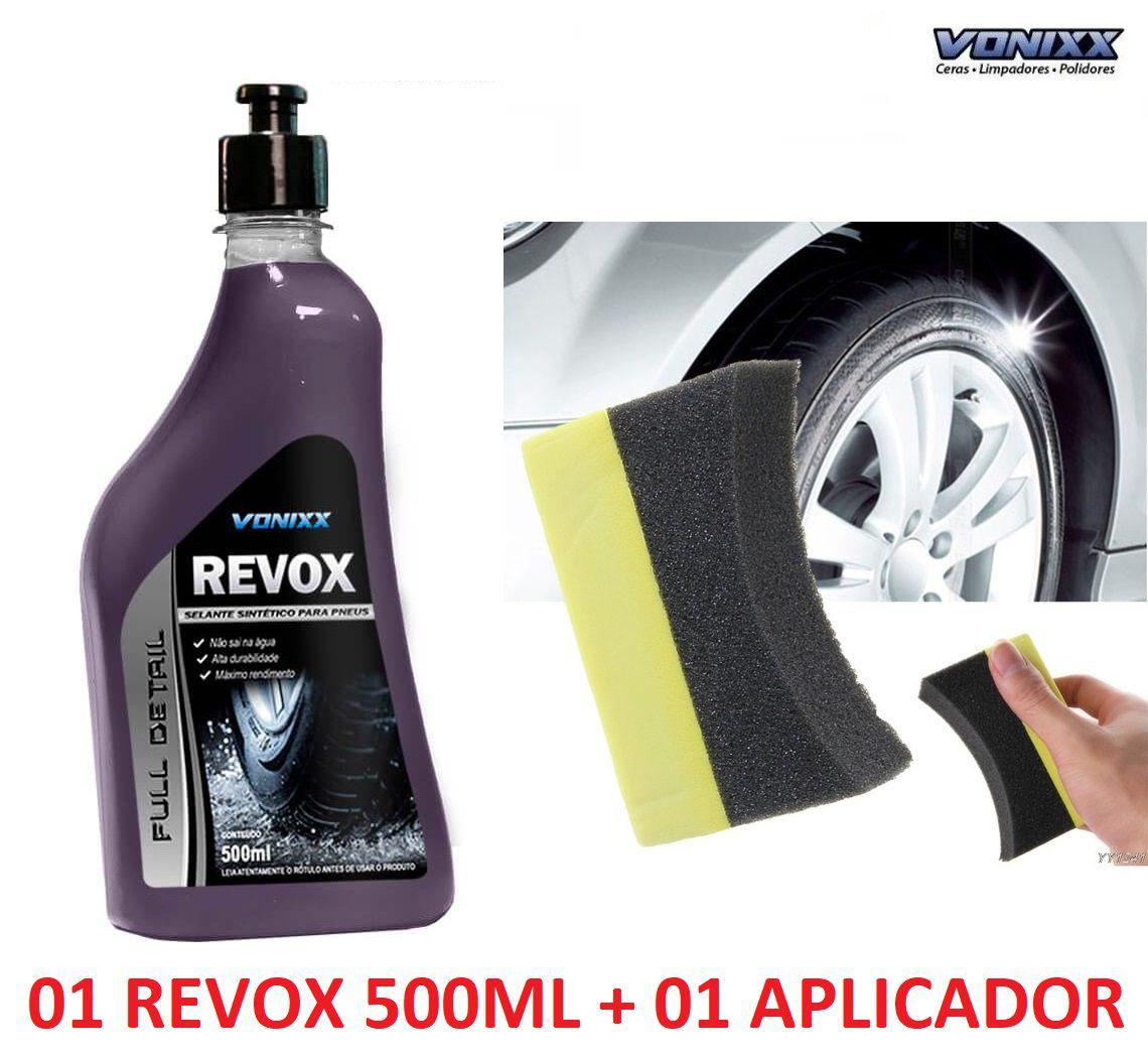 Revox Selante Renovador Pneu Pretinho Vonixx 500ml Resistente à água + aplicador de pretinho