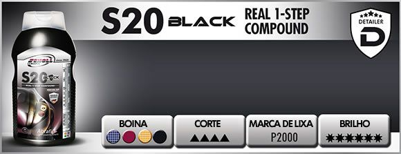 S20 Black Composto Polidor One Step 500g Scholl Concepts