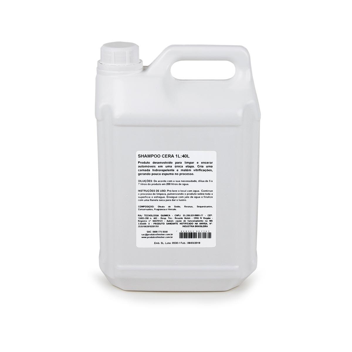 Shampoo Com Cera Concentrado 5l Rende 200 Litros Finisher
