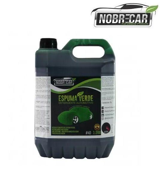 Shampoo Detergente Automotivo Espuma Verde 5L Nobre car