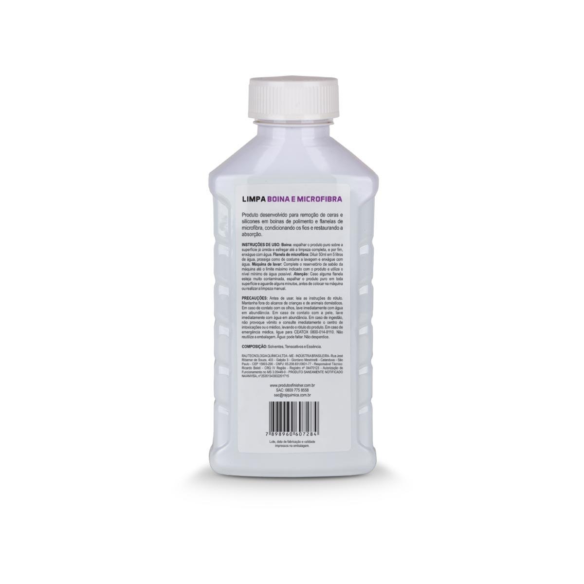 Shampoo Limpa Boina Microfibra Concentrado 500ml Finisher