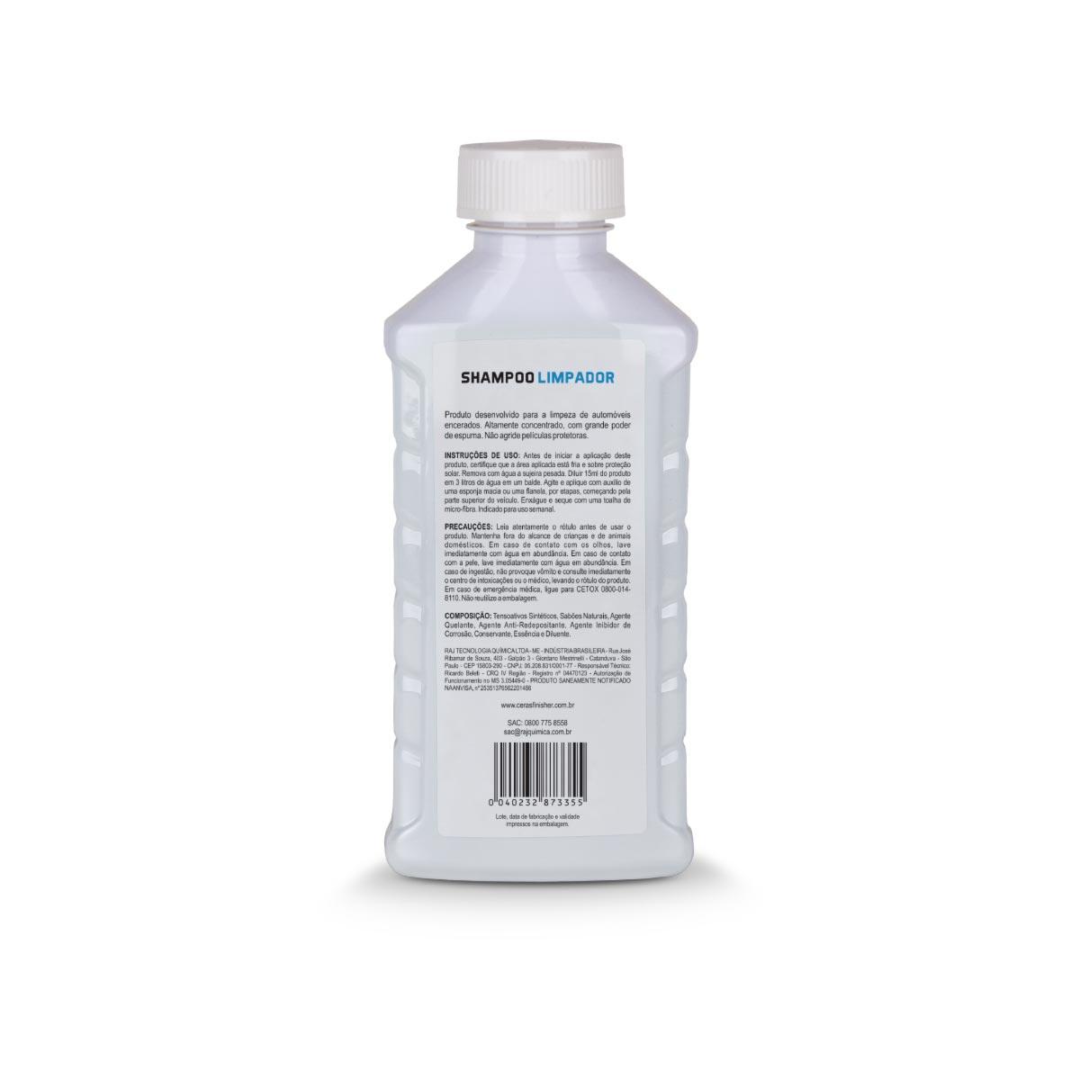 Shampoo Neutro Automotivo Limpador 500ml 1/200 Finisher