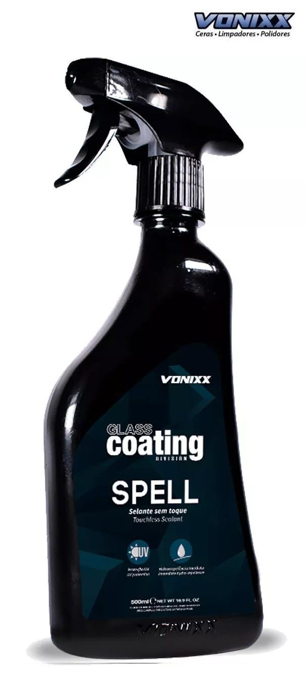 Spell Glass Coating Brilho Proteção Instantâneos Vonixx 500ml