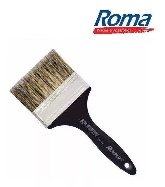 "Trincha Pincel Pintura 301 / 2.1/2"" Grisalhos Roma pretinho"