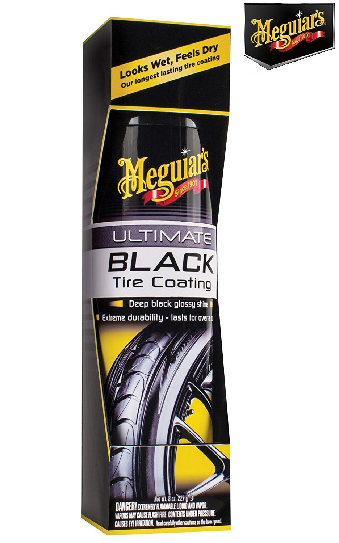 Ultimate Black Tire Coating 8 oz. 227g Meguiars G16008 Pretinho aerosol