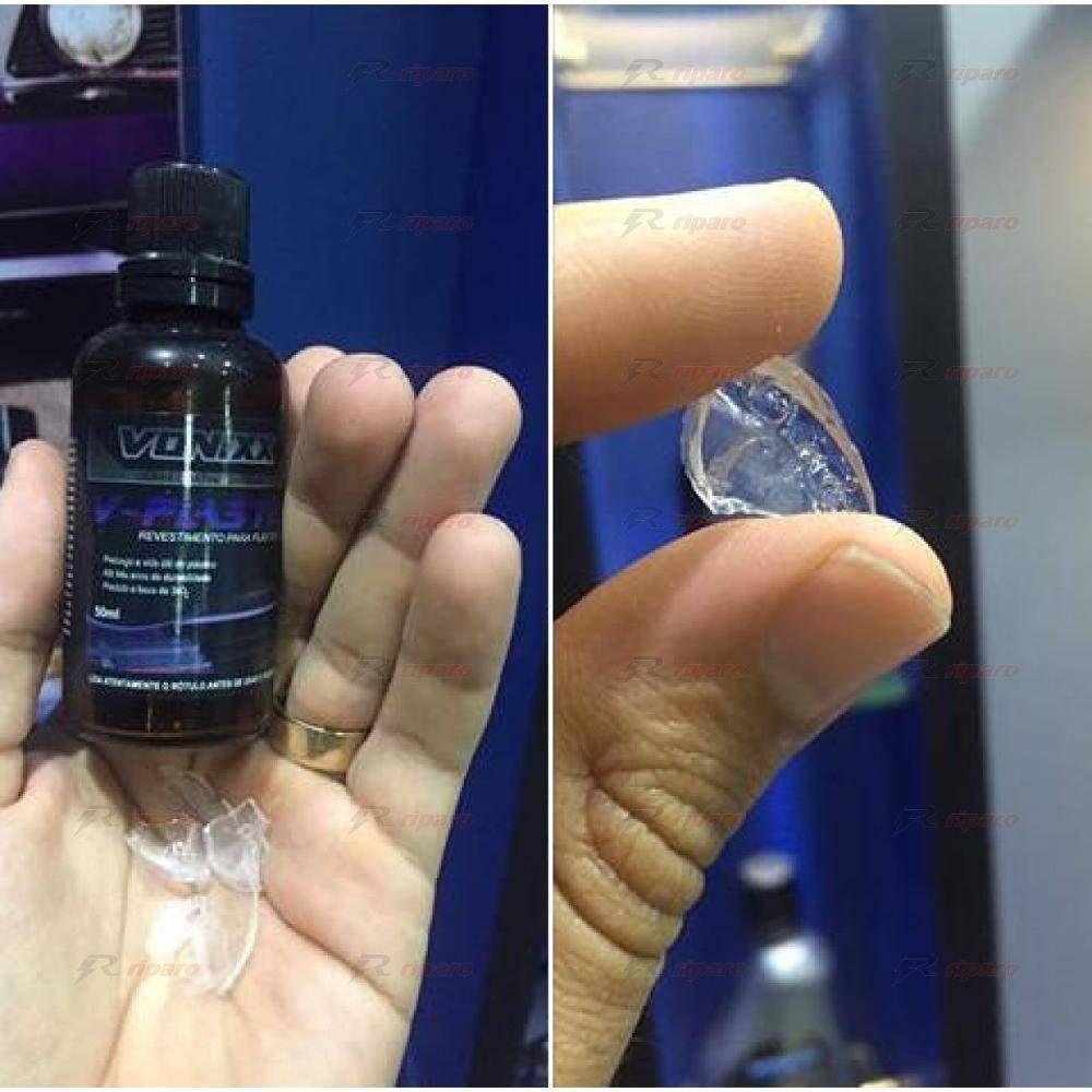 V-PLASTIC 20ml vitrificador p/ plásticos + Limpador multiação APC 500ML + Revelax Vonixx . 02 microfibra