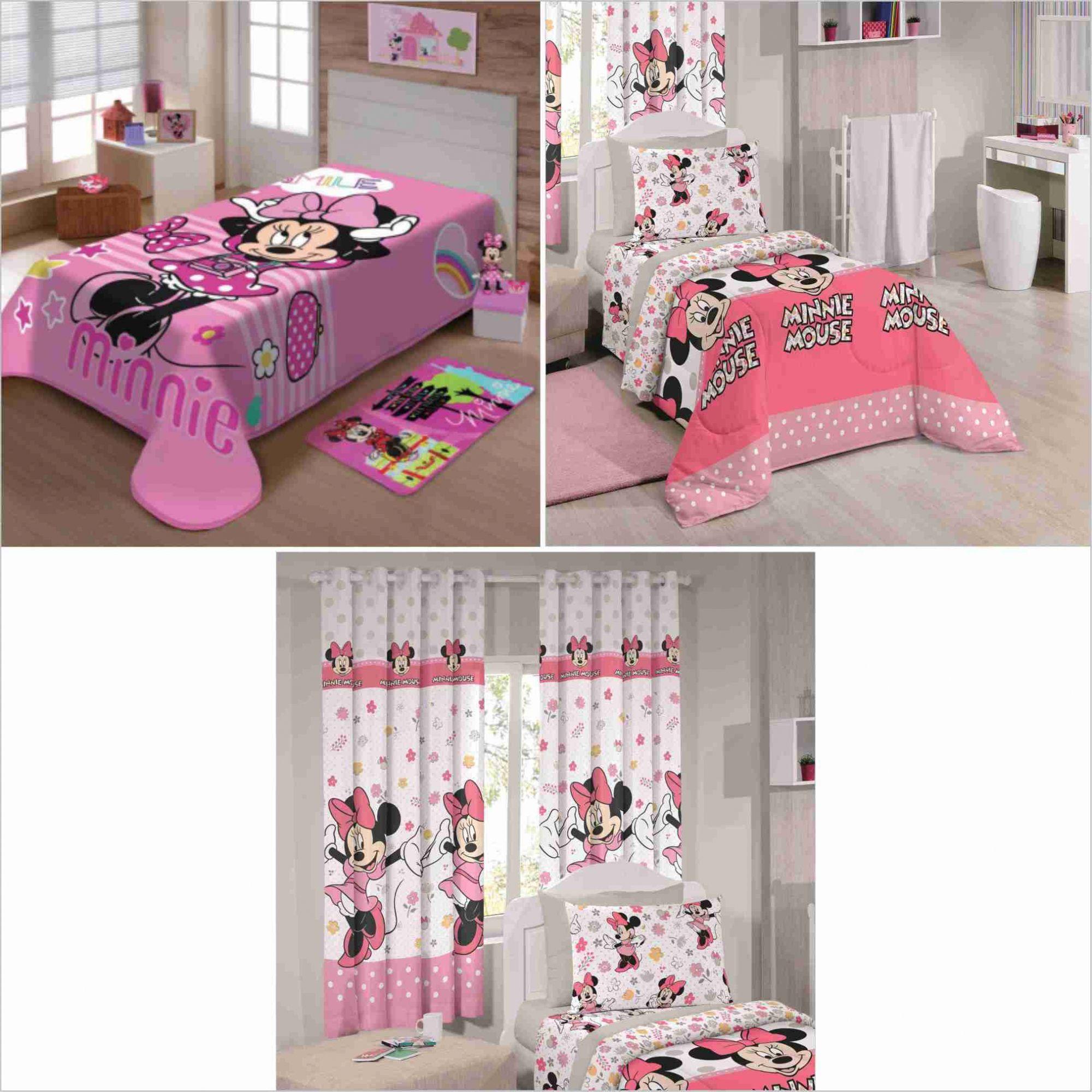 de130bd5f4 Cobertor+ Jogo Cama Lençol+ Cortina Minnie Happy Disney - PEQUENININHOS.COM