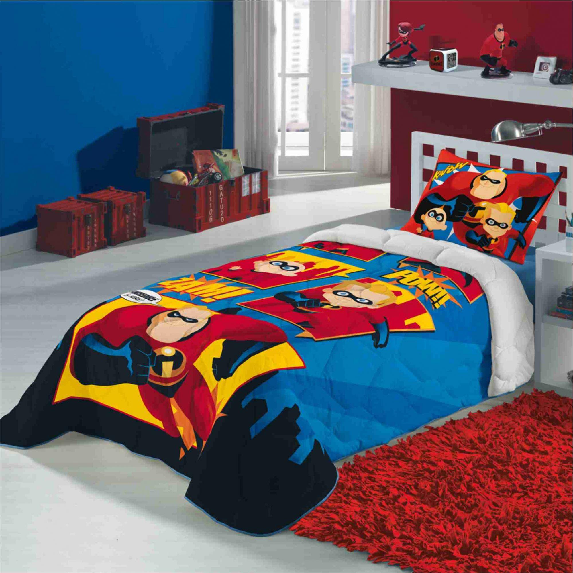 5cd6c022a3 Edredom Infantil Super Heróis Os Incríveis Lepper - PEQUENININHOS.COM