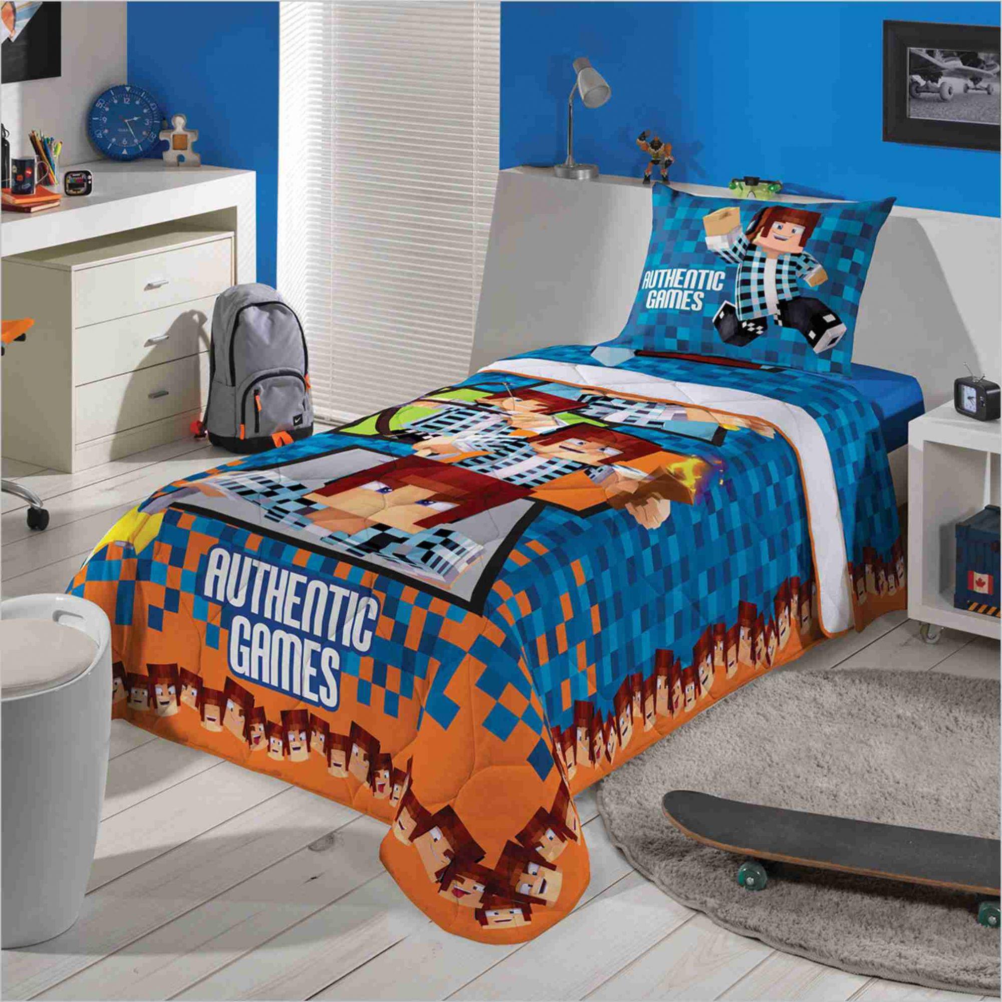 4803050024 Edredom Infantil Tipo Minecraft Authentic Games Lepper - PEQUENININHOS.COM